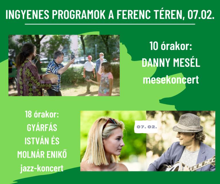 Indul nyári program-sorozatunk a Ferenc téren