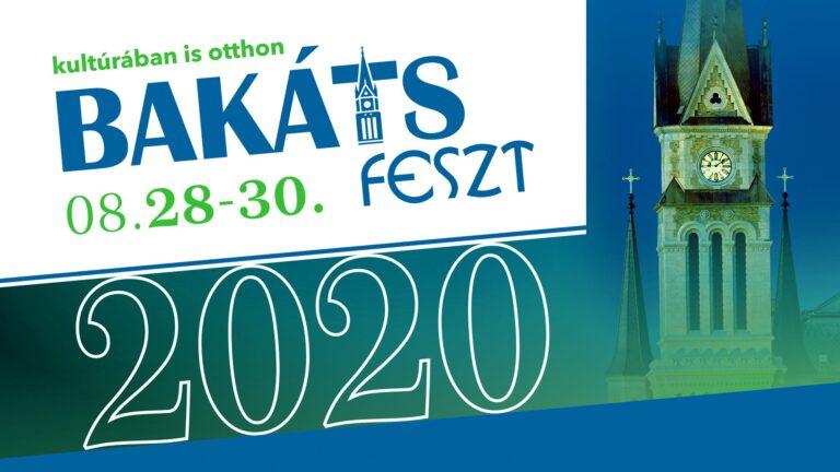 Bakáts Feszt, 2020. augusztus 28-30.