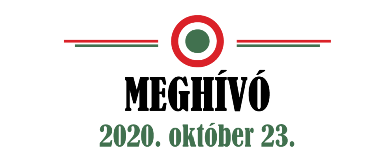 Programjaink október 23-án